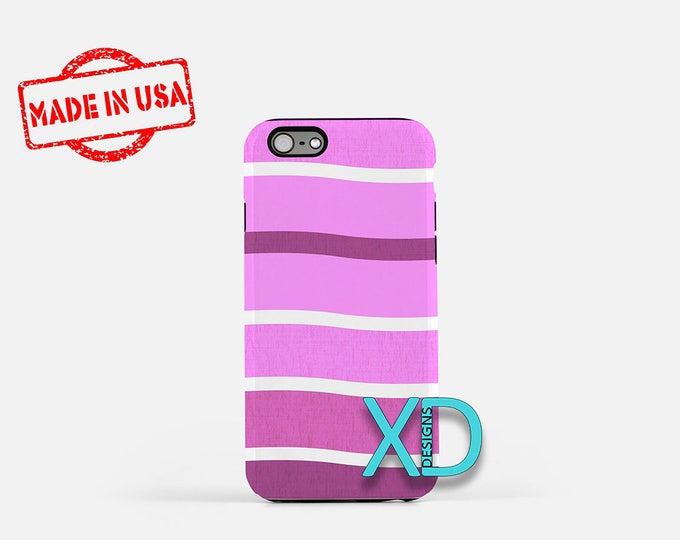 Pink Gradient Stripes iPhone Case, Stripes iPhone Case, iPhone 8 Case, iPhone 6s Case, iPhone 7 Case, Phone Case, iPhone X Case, SE Case