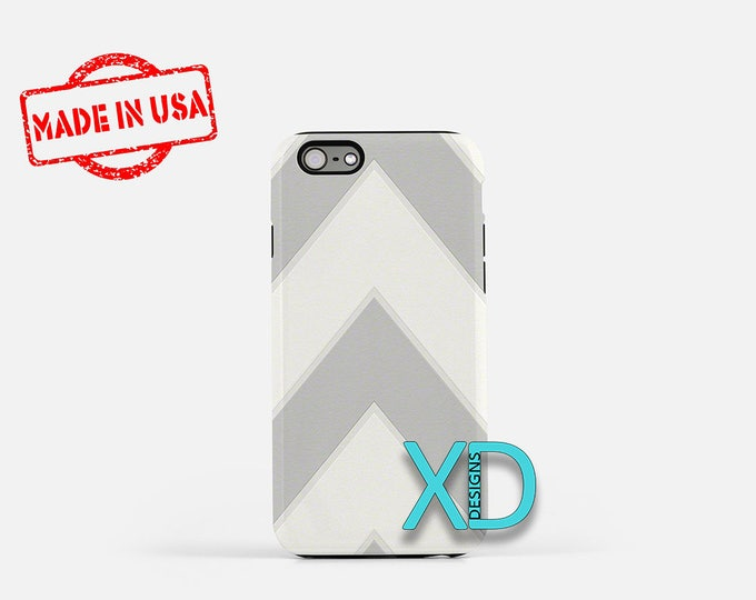 Offset Chevron iPhone Case, Gray iPhone Case, Chevron iPhone 8 Case, iPhone 6s Case, iPhone 7 Case, Phone Case, iPhone X Case, SE Case