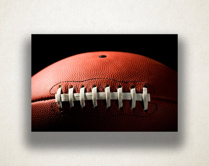 Football Laces Canvas Art, Football Wall Art, Sports Canvas Print, Close Up Wall Art, Photograph, Canvas Print, Home Art, Wall Art Canvas