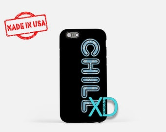 Chill iPhone Case, Snowflake iPhone Case, Relax iPhone 8 Case, iPhone 6s Case, iPhone 7 Case, Phone Case, iPhone X Case, SE Case