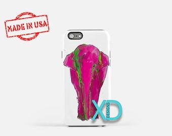 Pink Elephant iPhone Case, Animal iPhone Case, Elephant iPhone 8 Case, iPhone 6s Case, iPhone 7 Case, Phone Case, iPhone X Case, SE Case
