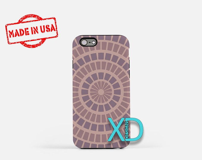 Purple and Peach iPhone Case, Circle iPhone Case, Circle iPhone 8 Case, iPhone 6s Case, iPhone 7 Case, Phone Case, iPhone X Case, SE Case