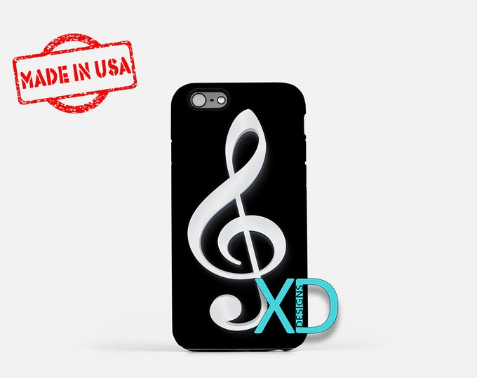 Treble Clef iPhone Case, Music iPhone Case, Treble Clef iPhone 8 Case, iPhone 6s Case, iPhone 7 Case, Phone Case, iPhone X Case, SE Case