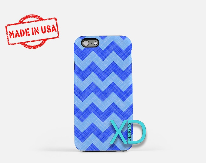 Teal Chevron iPhone Case, Blue iPhone Case, Teal Chevron iPhone 8 Case, iPhone 6s Case, iPhone 7 Case, Phone Case, iPhone X Case, SE Case