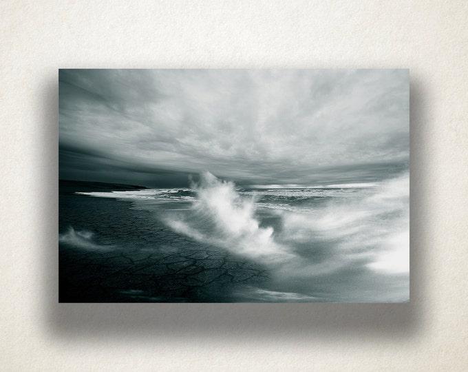 Beach Storm Canvas Art, Beach Storm Wall Art, Storm Scene Canvas Print, Lanscape Artwork, Photograph, Canvas Print, Home Art, Wall Art