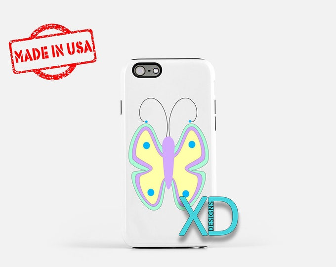 Cartoon Butterfly iPhone Case, Bug iPhone Case, Butterfly iPhone 8 Case, iPhone 6s Case, iPhone 7 Case, Phone Case, iPhone X Case, SE Case