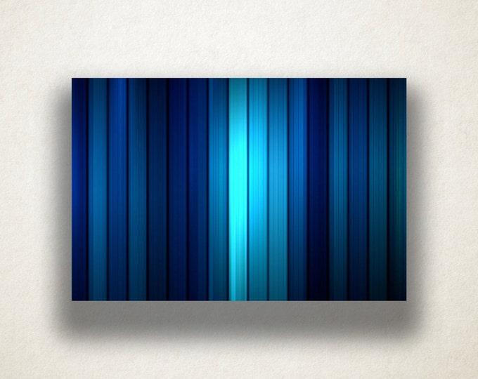 Gradient Blue Lines Canvas Art Print, Blue Stripes Wall Art, Blue Stripe Canvas Print, Artwork, Canvas Art, Canvas Print, Home Art, Wall Art