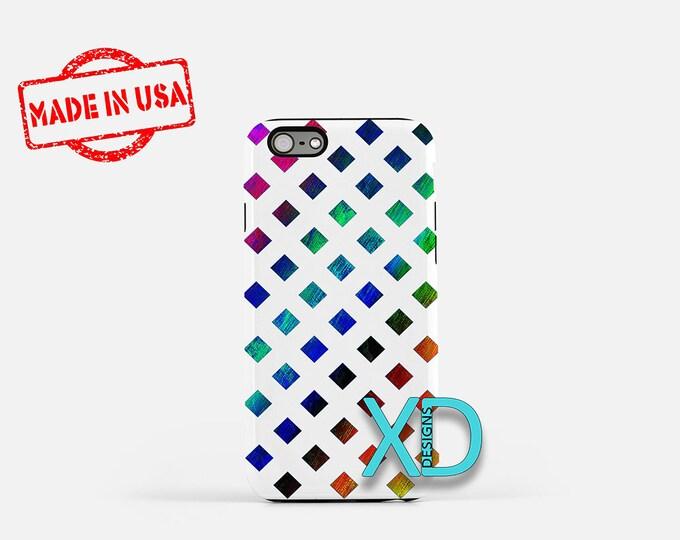 Rainbow Diamond iPhone Case, Lenticular iPhone Case, iPhone 8 Case, iPhone 6s Case, iPhone 7 Case, Phone Case, iPhone X Case, SE Case