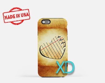 Paper Heart iPhone Case, Lined Heart iPhone Case, Paper Heart iPhone 8 Case, iPhone 6s Case, iPhone 5s Case, Phone Case, Safe Case, SE Case