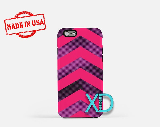 Pink and Purple Chevron iPhone Case, Pink and Purple iPhone 8 Case, iPhone 6s Case, iPhone 7 Case, Phone Case, iPhone X Case, SE Case