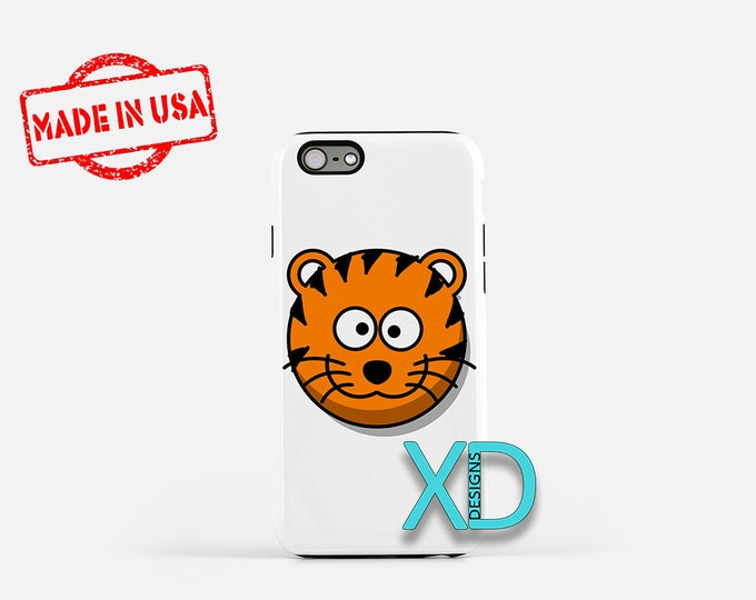Cartoon Tiger iPhone Case, Animal iPhone Case, Tiger iPhone 8 Case, iPhone 6s Case, iPhone 7 Case, Phone Case, iPhone X Case, SE Case
