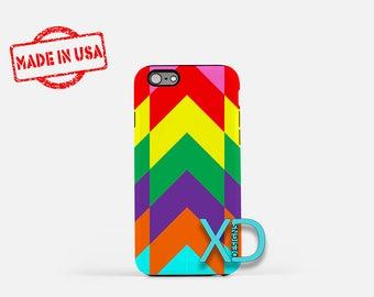 Rainbow Chevron iPhone Case, Rainbow iPhone Case, Chevron iPhone 8 Case, iPhone 6s Case, iPhone 7 Case, Phone Case, iPhone X Case, SE Case