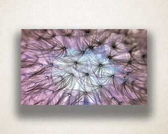 Dandelion Canvas Art, Flower Wall Art, Purple Sky Canvas Print, Floral Wall Art, Photograph, Canvas Print, Home Art, Wall Art Canvas