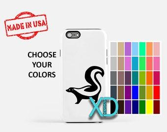 Simple Skunk iPhone Case, Animal iPhone Case, Skunk iPhone 8 Case, iPhone 6s Case, iPhone 7 Case, Phone Case, iPhone X Case, SE Case