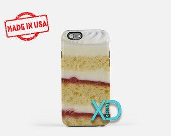 Strawberry Shortcake iPhone Case, Cake iPhone Case, Cake iPhone 8 Case, iPhone 6s Case, iPhone 7 Case, Phone Case, iPhone X Case, SE Case