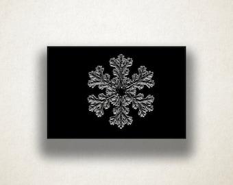 Ice Crystal Canvas Art Print, Snowflake Wall Art, Ice Canvas Print, Snowflake Close Up Wall Art, Canvas Art, Canvas Prin t, Home Art, Art