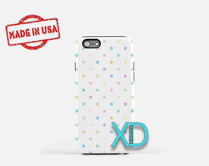 Pastel Star Phone Case, Pastel Star iPhone Case, Rainbow iPhone 7 Case, Multicolor, Rainbow iPhone 8 Case, Pastel Tough Case, Clear Case