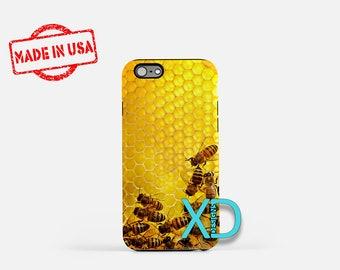 Honeycomb iPhone Case, Bee iPhone Case, Honeycomb iPhone 8 Case, iPhone 6s Case, iPhone 7 Case, Phone Case, iPhone X Case, SE Case