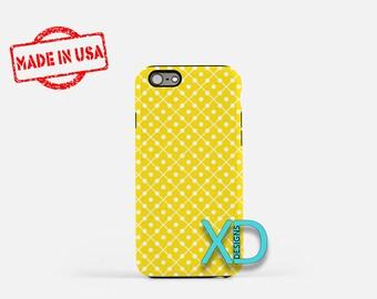 Yellow Domino Phone Case, Yellow Domino iPhone Case, Canary iPhone 7 Case, White, Canary iPhone 8 Case, Yellow Domino Tough Case, Clear Case