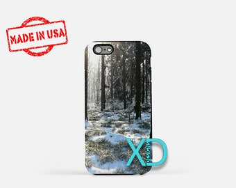 Winter iPhone Case,  Snowy Forest iPhone Case, Tree iPhone 8 Case,  Beach, iPhone 6s Case, iPhone 7 Case, Phone Case, iPhone X Case, SE Case