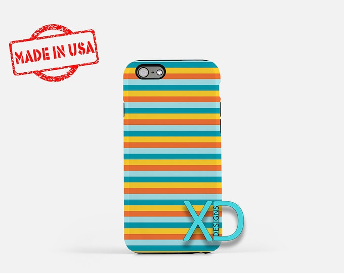 Summer Stripe Phone Case, Summer Stripe iPhone Case, Sun Ray iPhone 7 Case, Blue, Sun Ray iPhone 8 Case, Summer Tough Case, Clear Case