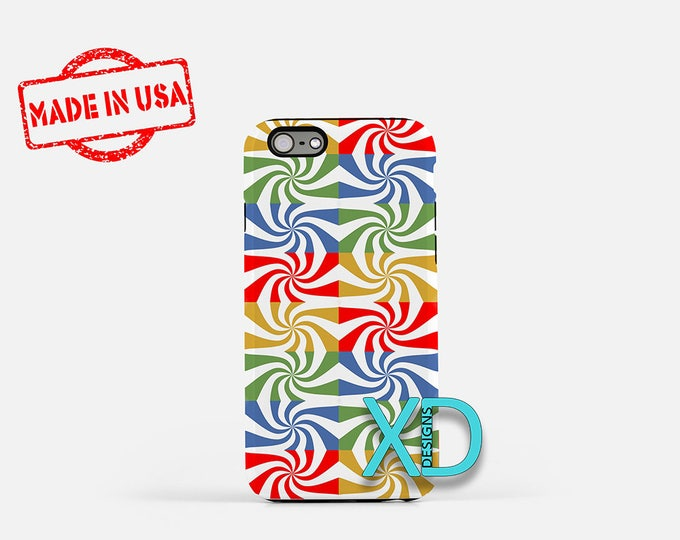 Candy Stripe iPhone Case, Rainbow iPhone Case, Striped iPhone 8 Case, iPhone 6s Case, iPhone 7 Case, Phone Case, iPhone X Case, SE Case