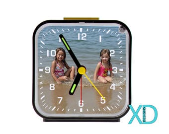 Custom Alarm Clock, Custom Clock, Personalized Alarm Clock, Monogram Alarm Clock, Photo Alarm Clock, Photo Clock, Table Clock, Gift Idea