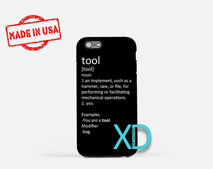 Tool Definition iPhone Case, Sarcastic iPhone Case, Tool iPhone 8 Case, iPhone 6s Case, iPhone 7 Case, Phone Case, iPhone X Case, SE Case