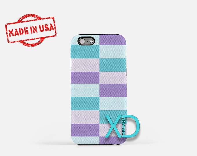 Pastel Rectangle iPhone Case, Pastel iPhone Case, Pastel iPhone 8 Case, iPhone 6s Case, iPhone 7 Case, Phone Case, iPhone X Case, SE Case