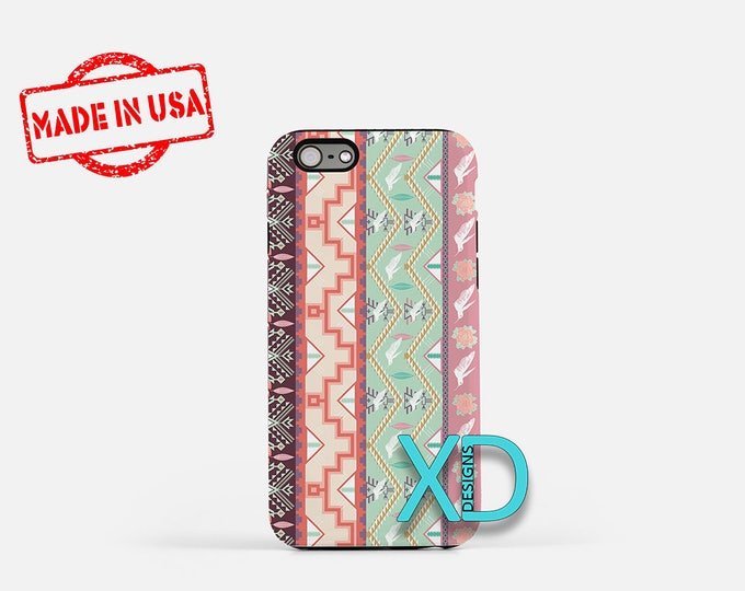 Hipster Tribal Pattern iPhone Case, Hipster Tribal iPhone 8 Case, iPhone 6s Case, iPhone 7 Case, Phone Case, iPhone X Case, SE Case