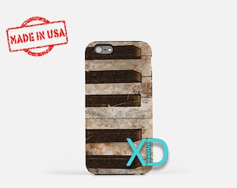 Vintage Piano iPhone Case, Retro iPhone Case, Retro Piano iPhone 8 Case, iPhone 6s Case, iPhone 7 Case, Phone Case, iPhone X Case, SE Case