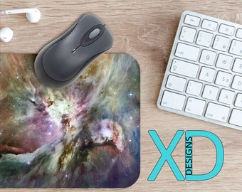 Space Mouse Pad, Space Mousepad, Nebula Rectangle Mouse Pad, Multicolor, Nebula Circle Mouse Pad, Space Mat, Computer, Galaxy, Outerspace