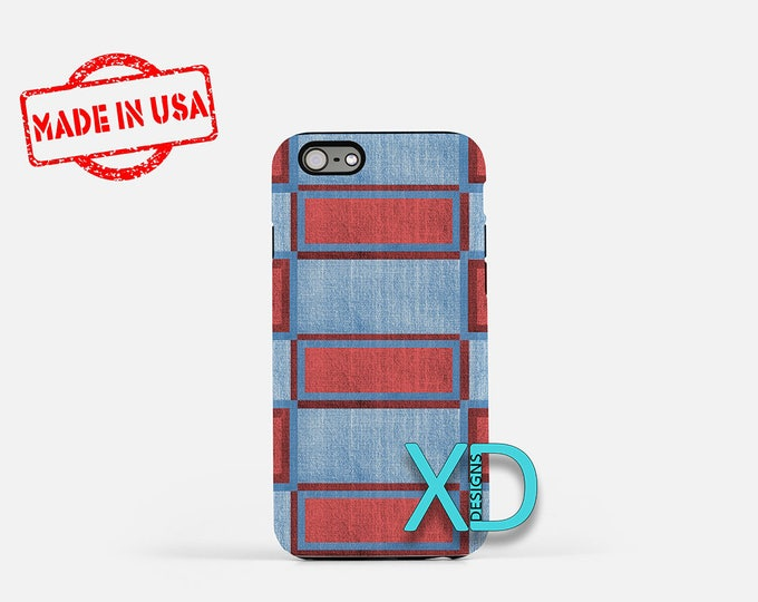 Blue Denim iPhone Case, Denim Design iPhone Case, Denim iPhone 8 Case, iPhone 6s Case, iPhone 7 Case, Phone Case, iPhone X Case, SE Case