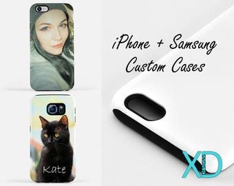 Custom iPhone Case, Custom Samsung Galaxy Case, iPhone 8 Case, iPhone 7 Case, Custom Phone Case, iPhone X Case, iPhone SE Case, Tough Case