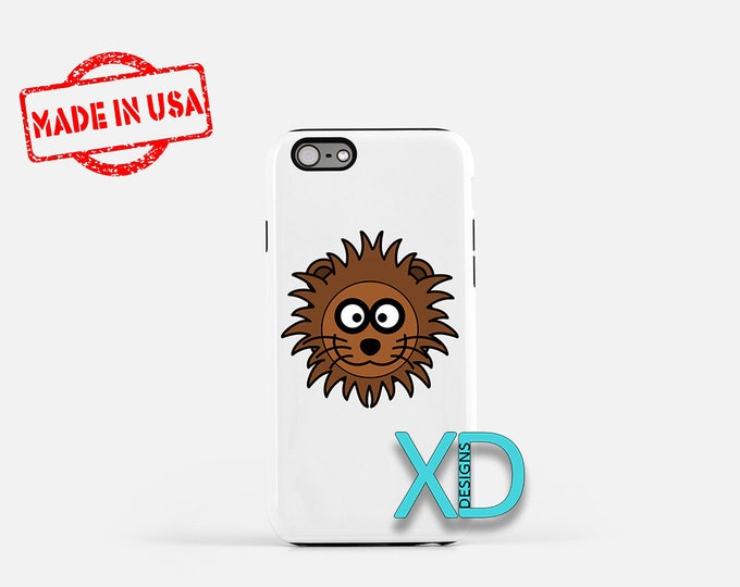 Cartoon Lion iPhone Case, Lion iPhone Case, Cartoon Lion iPhone 8 Case, iPhone 6s Case, iPhone 7 Case, Phone Case, iPhone X Case, SE Case