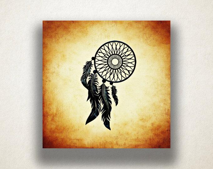 Dream Catcher Canvas Art Print, Native American Wall Art, Artistic Wall Art, Canvas Art, Canvas Print, Home Art, Wall Art