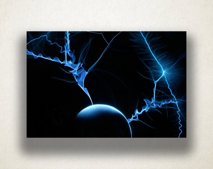 Electricity Canvas Art Print, Electricity Wall Art, Science Canvas Print, Close Up Wall Art, Canvas Art, Canvas Print, Home Art, Wall Art