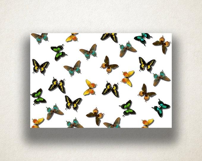 Realistic Butterfly Pattern Canvas Art Print, Butterfly Wall Art, Insect Canvas Print, Canvas Art, Canvas Print, Home Art, Wall Art