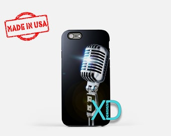 Microphone iPhone Case, Singer iPhone Case, Microphone iPhone 8 Case, iPhone 6s Case, iPhone 7 Case, Phone Case, iPhone X Case, SE Case