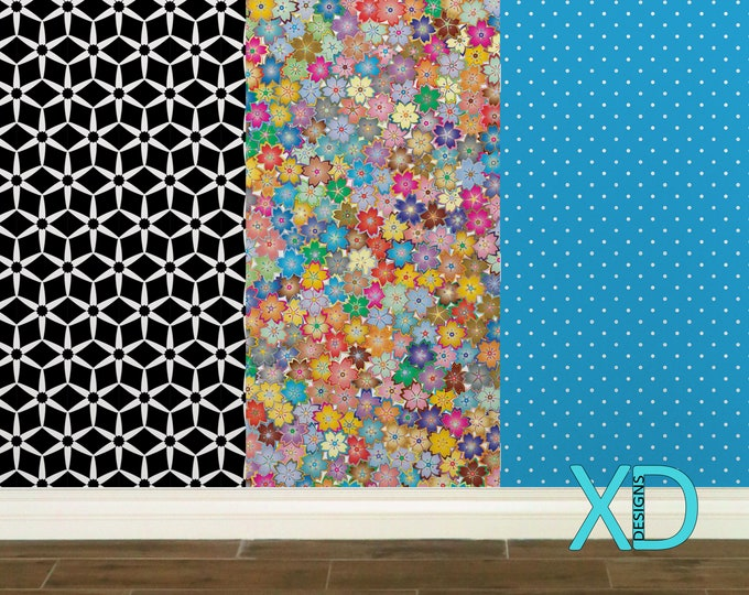 Custom Wallpaper Panel, Peel and Stick 24x48 Inch Panels, Design Your Own Wall Paper, Personalized Decor For Any Room, Perfect For Bedrooms