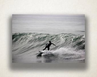 Pacific Ocean Surfer Canvas Art, Surfing Wall Art, Ocean Canvas Print, Photograph, Canvas Print, Home Art, Wall Art Canvas