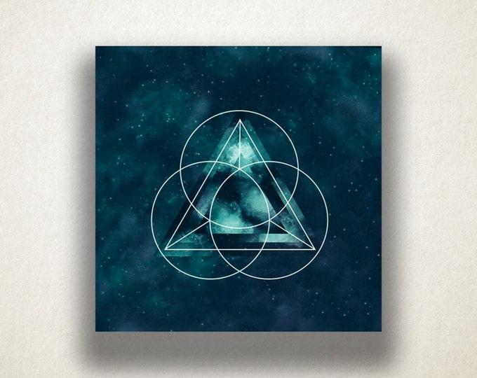 Space Triangle Design Canvas Art Print, Space Wall Art, Outer Space Canvas Print, Canvas Art, Canvas Print, Home Art, Wall Art