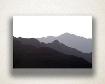 Mountain Range Silhouette Canvas Art Print, Hazy Mountain Wall Art, Mountain Canvas Print, Canvas Art, Canvas Print, Home Art, Wall Art
