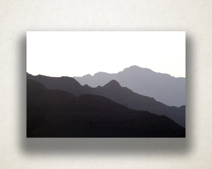 Mountain Range Silhouette Canvas Art Print, Hazy Mountain Wall Art, Mountain Canvas Print, Canvas Art, Canvas Print, Home Art, Wall Art