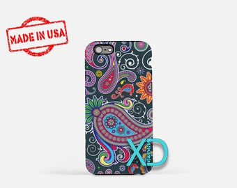Paisley Phone Case, Colorful Paisley Phone Case, Rainbow Paisley Phone Case, Colorful Paisley iPhone Case, Beautiful Paisley Design, Paisley