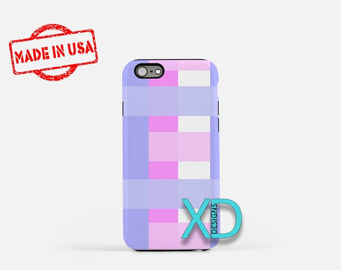 Purple Checkered iPhone Case, Purple Weave iPhone Case, iPhone 8 Case, iPhone 6s Case, iPhone 7 Case, Phone Case, iPhone X Case, SE Case