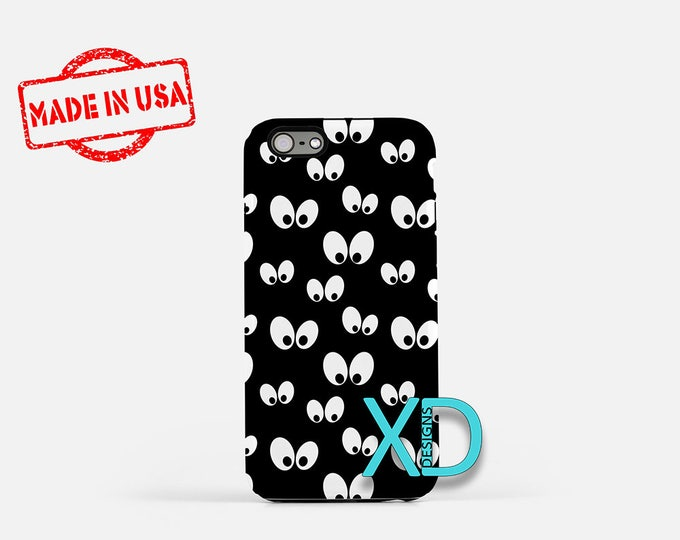 Spooky Eyes Phone Case, Spooky Eyes iPhone Case, Evil iPhone 7 Case, Black, Evil iPhone 8 Case, Spooky Eyes Tough Case, Clear Case, Scary