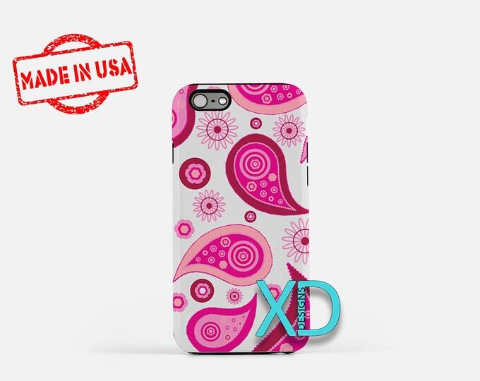 Paisley iPhone 7 Case, Pink Paisley iPhone 7 Case, Pink and White Paisley iPhone 7 Case, iPhone 7 Case, Paisley Design iPhone 7 Case, Pretty