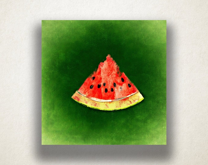 Watermelon Painting Canvas Art Print, Fruit Wall Art, Food Canvas Print, Artistic Wall Art, Canvas Art, Canvas Print, Home Art, Wall Art