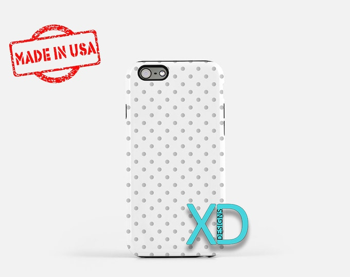 Silver Dot Phone Case, Silver Dot iPhone Case, Dotty iPhone 7 Case, White, Dotty iPhone 8 Case, Silver Dot Tough Case, Clear Case, Silvery